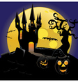 Haunted halloween Castle vector image vector image