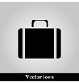 Icons suitcase on grey background vector image vector image