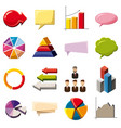 infographic elements icons set cartoon style vector image vector image