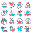 insurance icon life or health ensurance vector image vector image