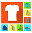 isolated object of man and clothing sign set of vector image vector image