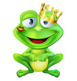 kissed frog prince vector image vector image