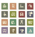 machine tools icon set vector image vector image