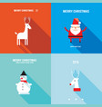 merry christmas happy new year holiday banner set vector image vector image