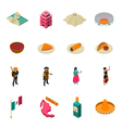 Mexico Touristic Attractions Isometric Icons vector image vector image