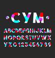 Modern style font typography alphabet set