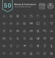 Money and Commerce Thin Icon Set vector image vector image