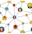 People avatars in social network on white vector image vector image