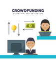 people project to financial business support vector image vector image