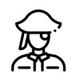 pirate silhouette icon outline vector image vector image