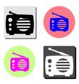 radio flat icon vector image