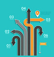 road trip and journey route business and journey vector image vector image