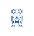 robot line icon concept robot flat symbol vector image vector image