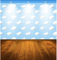 Room with clouds vector image vector image
