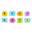 rubber gloves eye protection and mint tea icons vector image vector image