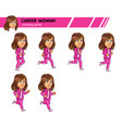 running career woman game sprite vector image vector image
