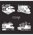 set lettering travel typographic camp vector image vector image