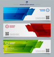 set of banner web headers template abstract vector image