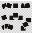 set of different photo frames with shadows vector image vector image