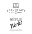 set of real estate construction building icons vector image