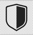 shield protect icon on isolated transparent vector image