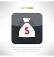 Simple money bag icon made in modern clean and vector image vector image
