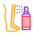 spray for leg after shave icon outline vector image vector image