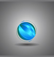 techno globeinternet technology world logo vector image vector image