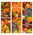 thanksgiving holiday turkey harvest cornucopia vector image vector image