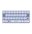 the of mobile keyboard vector image