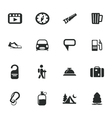 Travel icons set vector image vector image
