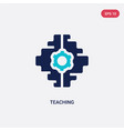 two color teaching icon from artificial vector image vector image