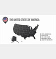 us map with general information and flag in the vector image vector image