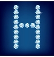 vector diamond alphabet letter h vector image
