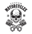 vintage custom motorcycle logotype vector image