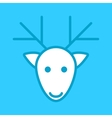 white deer head on a blue background vector image vector image