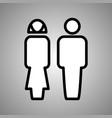 woman and man logo woman and man icon vector image