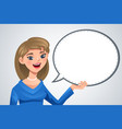 woman with blank text bubble vector image