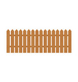 wooden fence isolated vector image vector image
