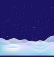 xmas night background snow stars and snowdrifts vector image vector image