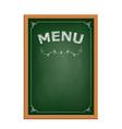 chalk board menu vector image