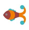 Fish flat icon isolated on white background vector image