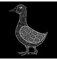 zentangle magic goose print for adult anti vector image