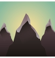 mountains landscape picture isolated vector image
