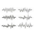 set of sound waves vector image