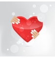 A heart health concept - red heart vector image vector image