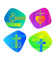 a set of bright colored christian logos vector image vector image