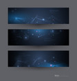 abstract molecules banners set vector image vector image