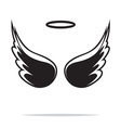 Angel wings icon1 vector image vector image