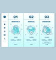 antivirus software subscription fee onboarding vector image vector image